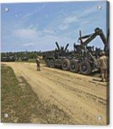 Marines Offload A Logistics Vehicle Acrylic Print