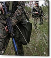 Marines Patrol The Central Training Acrylic Print