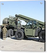 Marines Pick Up Palletized Logistics Acrylic Print