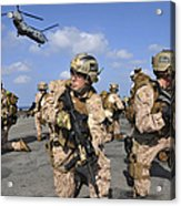 Marines Position Themselves Acrylic Print