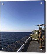 Marines Provide Defense Security Acrylic Print