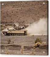 Marines Roll Through The Combat Center Acrylic Print