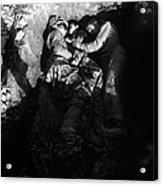 Marines Share A Foxhole With An Orphan Acrylic Print
