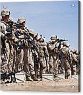 Marines Verify The Battle Sight Zeroes Acrylic Print