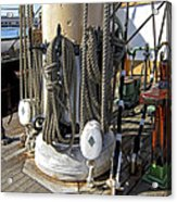 Maritime Pulley And Rope Work Acrylic Print