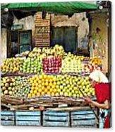 Market Of Djibuti-1 Acrylic Print by Jenny Senra Pampin