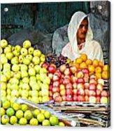 Market Of Djibuti-3 Acrylic Print by Jenny Senra Pampin