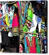 Market Of Djibuti With More Colors Acrylic Print by Jenny Senra Pampin