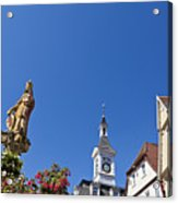 Market Square In Aalen, Germany Acrylic Print