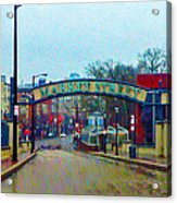 Market Street From Penns Landing Philadelphia Acrylic Print