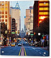 Market Street In The Morning Acrylic Print