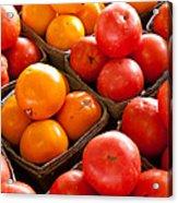 Market Tomatoes Acrylic Print by Lauri Novak