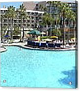 Marriott Hotel Swimming Pool Panorama Orlando Fl Acrylic Print