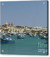 Marsaxlokk Harbour Acrylic Print