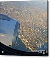 Marseille City From An Airplane Porthole Acrylic Print