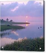 Marsh At Sunrise Over Eagle Bay St Acrylic Print by Tim Fitzharris