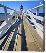 Marshal Point Lighthouse Walkway Acrylic Print