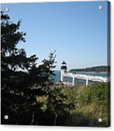 Marshall Point Lighthouse Acrylic Print by Debra LePage