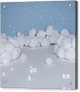 Marshmallow Fight Acrylic Print