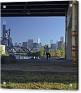 Martial Arts In The City Acrylic Print