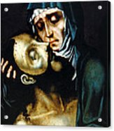 Mary And Jesus Painting At Peace Center Acrylic Print