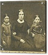 Mary Ann Brown 1817-1884, The Second Acrylic Print by Everett