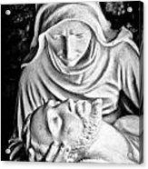 Mary Cradling Jesus Acrylic Print