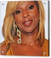 Mary J. Blige In Attendance For 2nd Acrylic Print by Everett