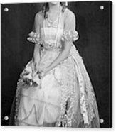 Mary Pickford In Her Wedding Dress, 1920 Acrylic Print