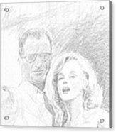 Marylin Monroe And Arthur Miller Acrylic Print