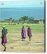 Masai Village Acrylic Print