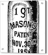 Mason Jar Acrylic Print