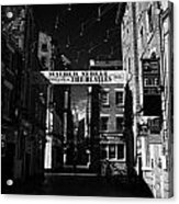 Mathew Street In Liverpool City Centre Birthplace Of The Beatles Merseyside England Uk Acrylic Print