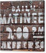 Matinees Acrylic Print