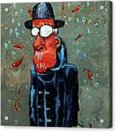 Matisse Juggling Fish In The Rain In His Brain Acrylic Print by Charlie Spear