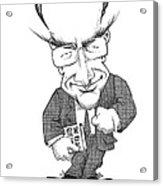 Matt Ridley, Caricature Acrylic Print by Gary Brown