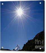 Matterhorn With Sunbeam Acrylic Print