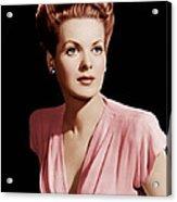 Maureen Ohara, Ca. 1946 Acrylic Print by Everett