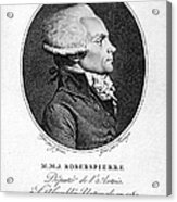 Maximilien Robespierre Acrylic Print