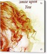 May An Angel Smile Upon You - Greeting Card And Print Acrylic Print