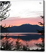 May Sunset On Kootenay Lake Acrylic Print