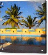 Maya Palms 2 Acrylic Print
