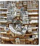 Mayan Architectural Details At Uxmal Mexico Acrylic Print