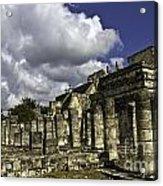 Mayan Colonnade Acrylic Print