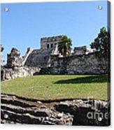 Mayan Temple Acrylic Print