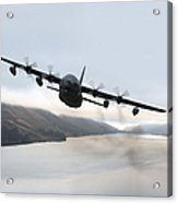 Mc-130p Combat Shadow Over Scotland Acrylic Print