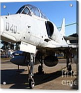 Mcdonnell Douglas Ta-4j Skyhawk Aircraft Fighter Plane . 7d11303 Acrylic Print by Wingsdomain Art and Photography