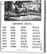 Mcguffeys Reader, 1853 Acrylic Print