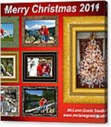 Mclanegoetz Studio Christmas Card Acrylic Print