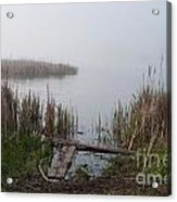 Mclaughlin Bay In The Fog At The Shore Acrylic Print